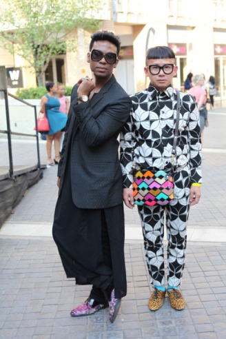 photo of david tlale and chu by stuurman