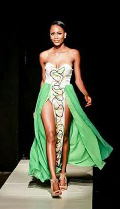 Green yarn dress